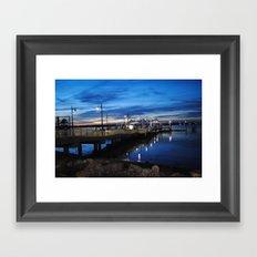 Boardwalk Night Framed Art Print