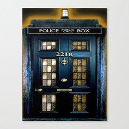 Tardis Sherlock Holmes 221B Canvas Print