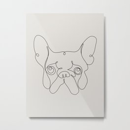 One Line French bulldog Metal Print