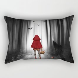 Little Red Riding Hood and the wolf Rectangular Pillow