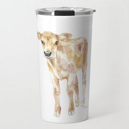 Jersey Calf Watercolor Cow Travel Mug