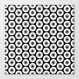 Geometric Pattern 246 (stars in circles 2) Canvas Print