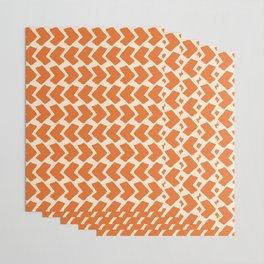Orange Geometric Pattern Retro Print Wrapping Paper