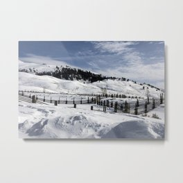 Carol M Highsmith - Snow Covered Hills Metal Print