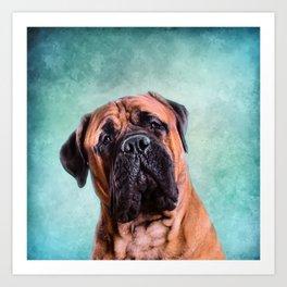 Bullmastiff dog Art Print