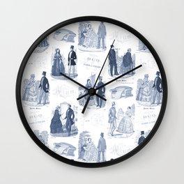 Biedermeier Blue Romance Wall Clock