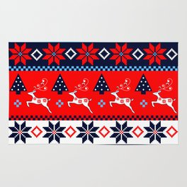 Scandinavian holidays pattern design Rug