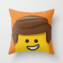 Brick Builder Throw Pillow