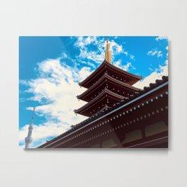 Asakusa Past and Present Metal Print
