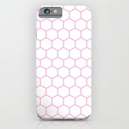 Honeycomb (Pink & White Pattern) iPhone Case