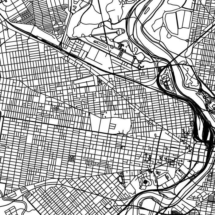 Philadelphia White Map Leggings