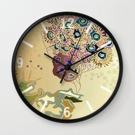 Beige reef Wall Clock