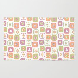 Abstract geometric pattern in pastel colors Rug