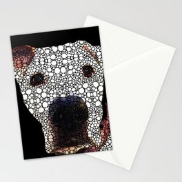 Stone Rock'd Dog 2 by Sharon Cummings Stationery Cards