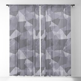 Abstract Geometrical Triangle Patterns 4 VA Mystical Purple - Metropolis Lilac - Dried Lilacs Sheer Curtain