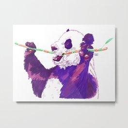 Purple Panda Metal Print
