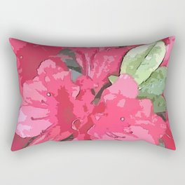 Crimson Azaleas Rectangular Pillow