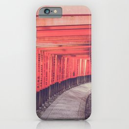 Red torii Kyoto Japan iPhone Case