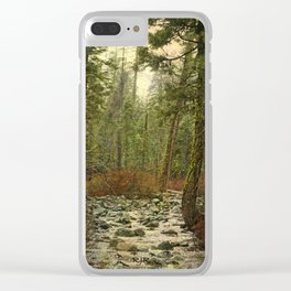 Forest Stream Clear iPhone Case
