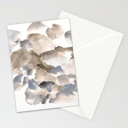 180630 Abstract Watercolour Grey Black Brown Neutral 20 | Watercolor Brush Strokes Stationery Cards