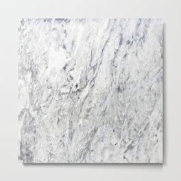 Vintage rustic gray white elegant marble Metal Print