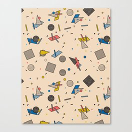 Memphis Inspired Pattern 9 Canvas Print