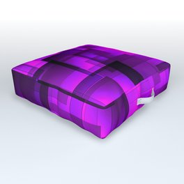 Mosaic of purple volumetric squares with a shadow. Outdoor Floor Cushion