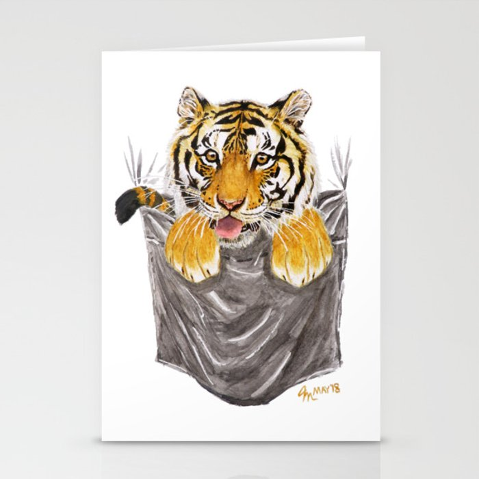 Pocket-Sized Gabrielle Tiger Stationery Cards