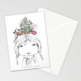 Christmas on my mind Stationery Cards