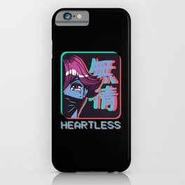 Sad Anime Girl Heartless Japan Aesthetic Gift iPhone Case