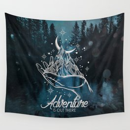 Adventure Is Out There Forest Lake Reflection - Nature Photography Wall Tapestry