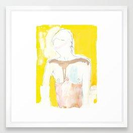 Figure on Gold Framed Art Print