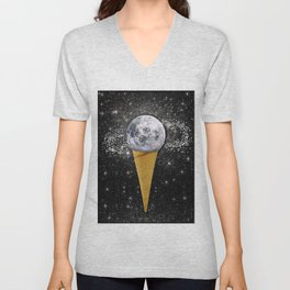 MOON ICE CREAM Unisex V-Neck