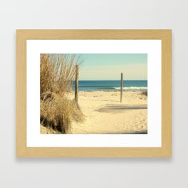 Pathway To The Sea Framed Art Print