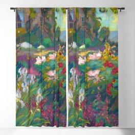 The Iris Garden - Robert Antoine Pinchon Blackout Curtain
