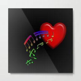 Music From The Heart Metal Print