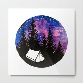 Tiny tent unter nebula Metal Print