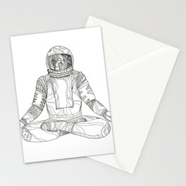 Astronaut Lotus Position Mandala Stationery Cards