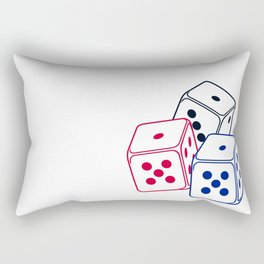 Bunco Dices V6S2 Rectangular Pillow