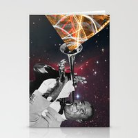louis armstrong Stationery Cards featuring Louis Light (Digital Collage) by Jeff Taylor