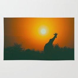 Lonely Sunset Giraffe Rug