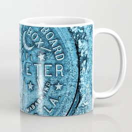 Blue Water Meter New Orleans Sewer Ford Louisiana Coffee Mug