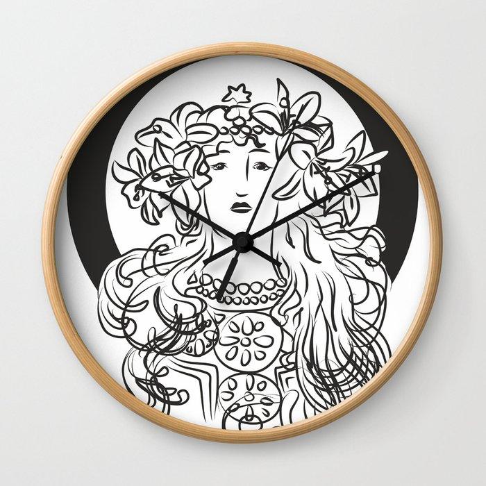 Mucha's Inspiration Wall Clock