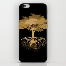 Heart Tree - Orange iPhone & iPod Skin