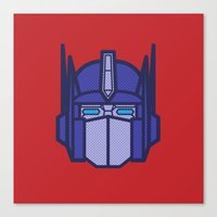 optimus prime Canvas Prints featuring Optimus Prime by M. Gulin