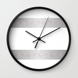 Rose Gold Gray Decorative Strip Wall Clock