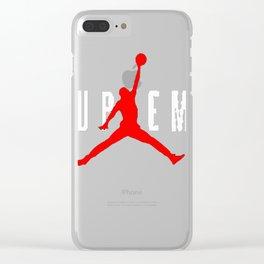 supreme jordan Clear iPhone Case