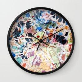 Mosaic of Barcelona VI Wall Clock
