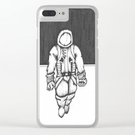 Colliding Space Clear iPhone Case