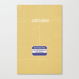 Almost Famous minimalist poster Canvas Print